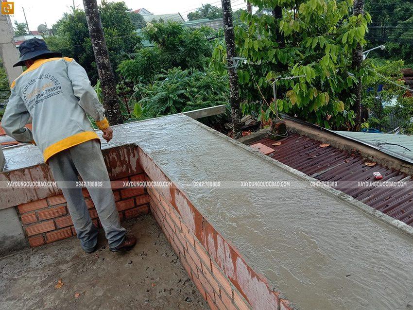 Công tác đổ bê tông dầm, sàn lầu 1 - Ảnh 4