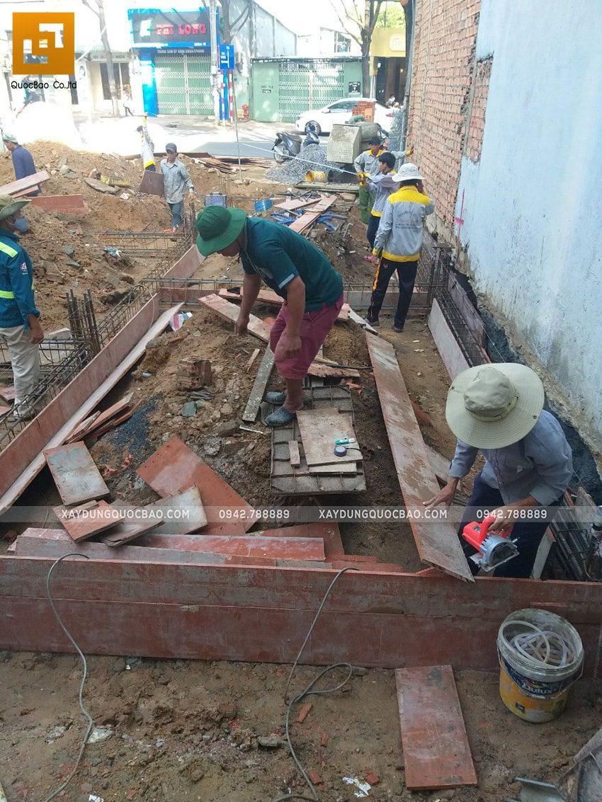 Thi công phần móng quán cà phê thép tiền chế tại Biên Hòa - Ảnh 8