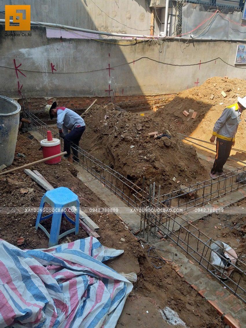 Thi công phần móng quán cà phê thép tiền chế tại Biên Hòa - Ảnh 6