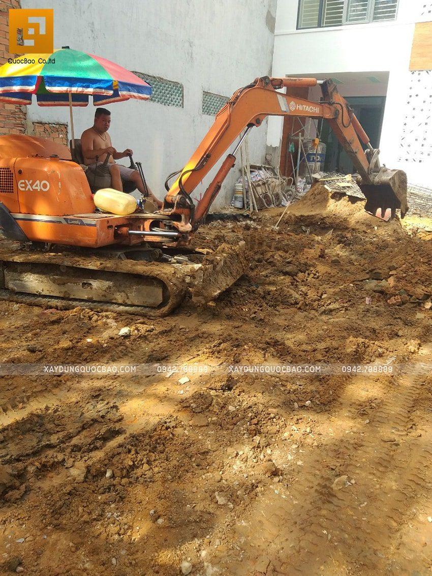 Thi công phần móng quán cà phê thép tiền chế tại Biên Hòa - Ảnh 3
