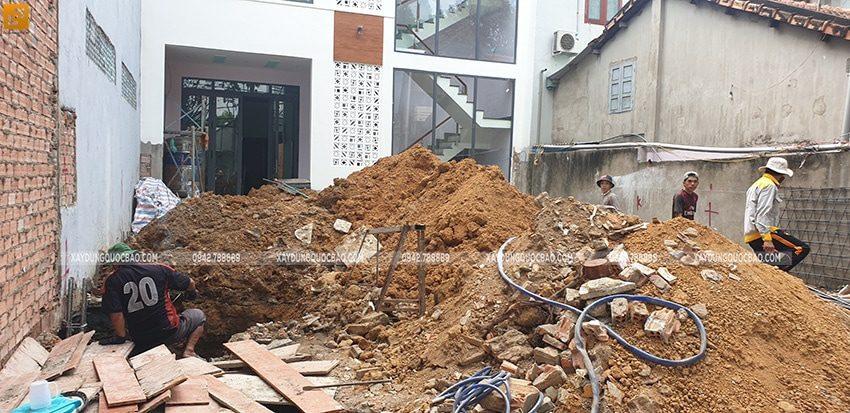 Thi công phần móng quán cà phê thép tiền chế tại Biên Hòa - Ảnh 4