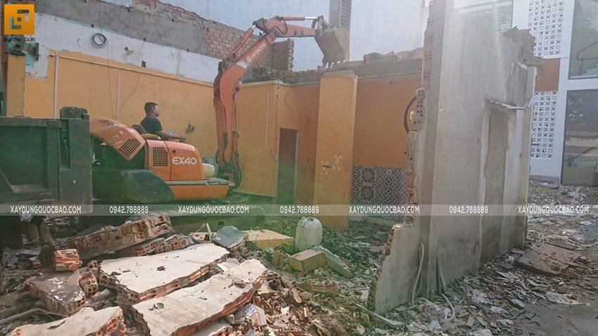 Thi công phần móng quán cà phê thép tiền chế tại Biên Hòa - Ảnh 1