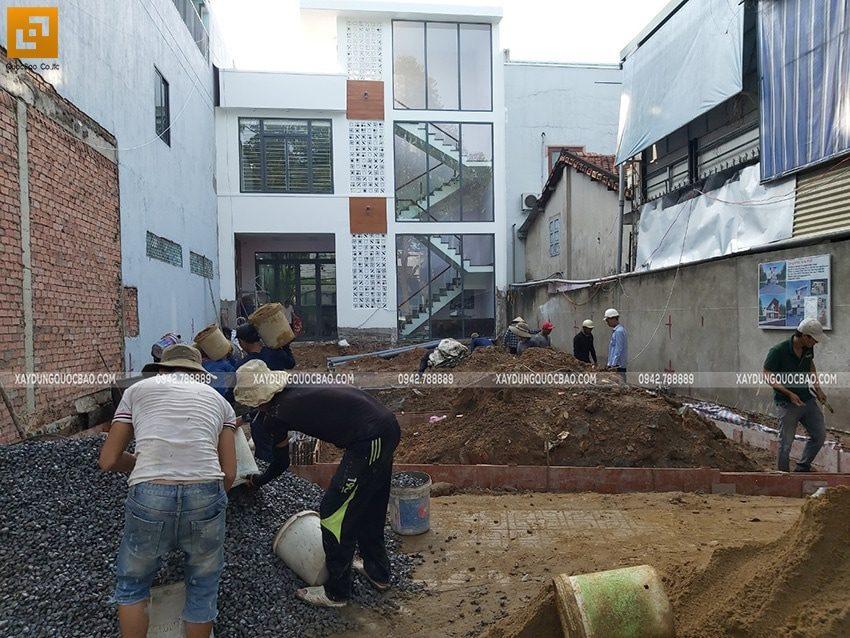 Thi công phần móng quán cà phê thép tiền chế tại Biên Hòa - Ảnh 9
