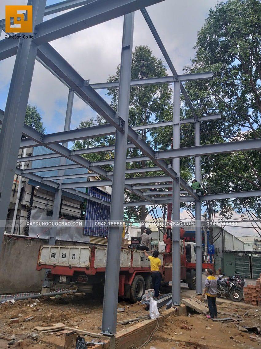 Thi công lắp ghép quán coffee khung thép tại Biên Hòa - Ảnh 9