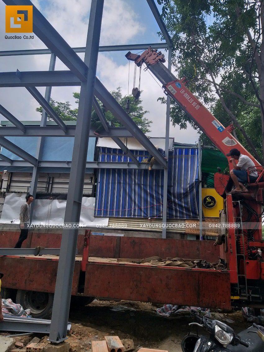 Thi công lắp ghép quán coffee khung thép tại Biên Hòa - Ảnh 11