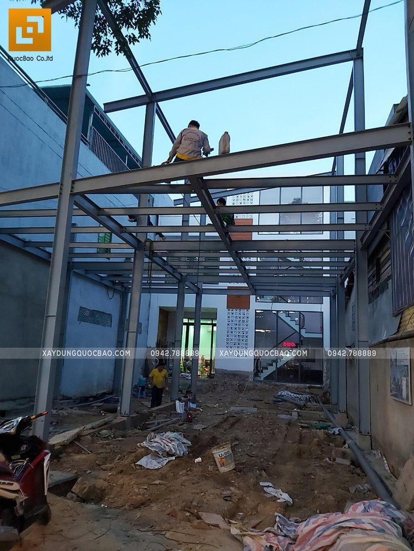 Thi công lắp ghép quán coffee khung thép tại Biên Hòa - Ảnh 8