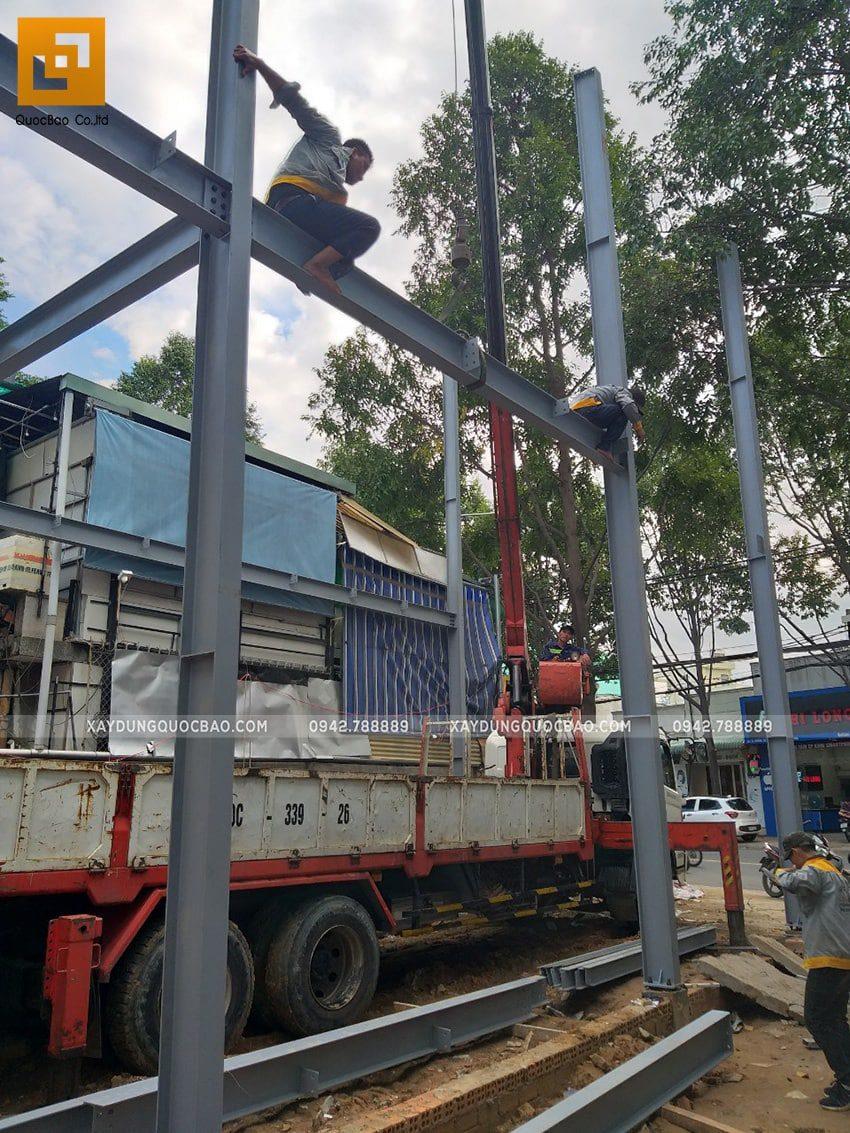 Thi công lắp ghép quán coffee khung thép tại Biên Hòa - Ảnh 7