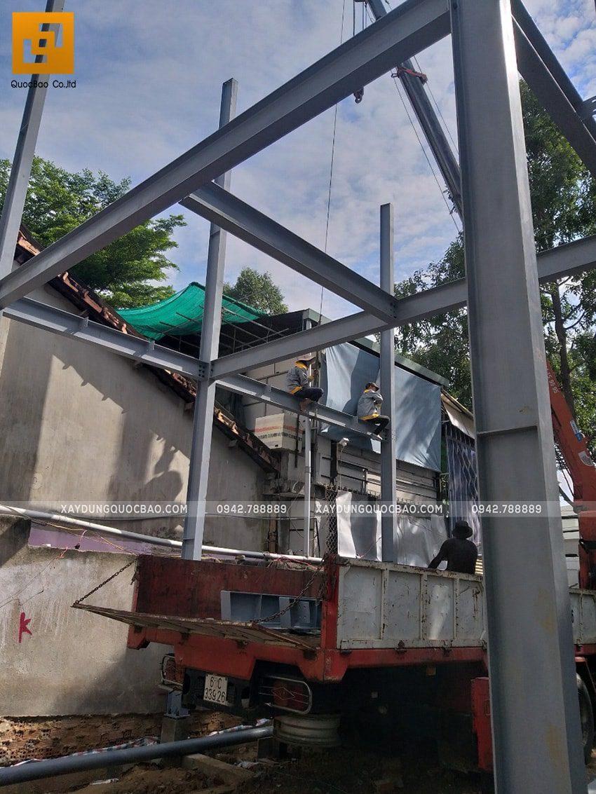 Thi công lắp ghép quán coffee khung thép tại Biên Hòa - Ảnh 6