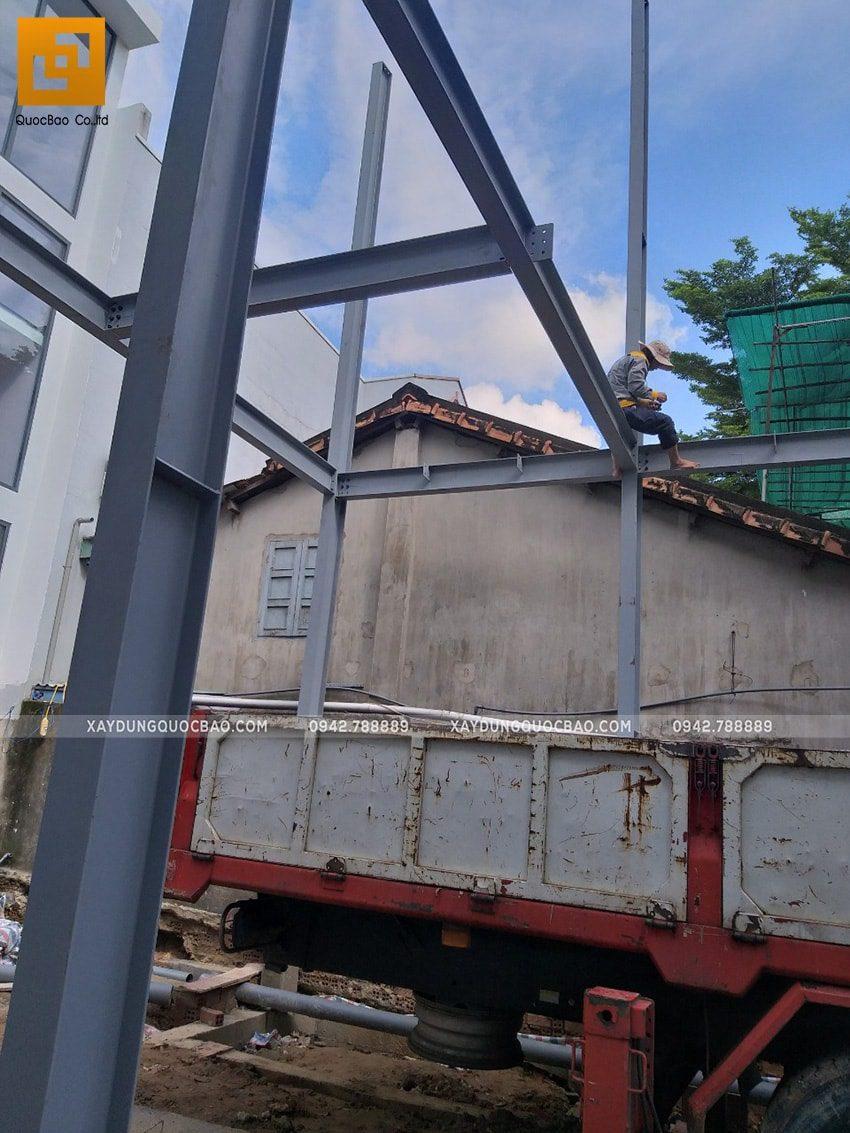 Thi công lắp ghép quán coffee khung thép tại Biên Hòa - Ảnh 5