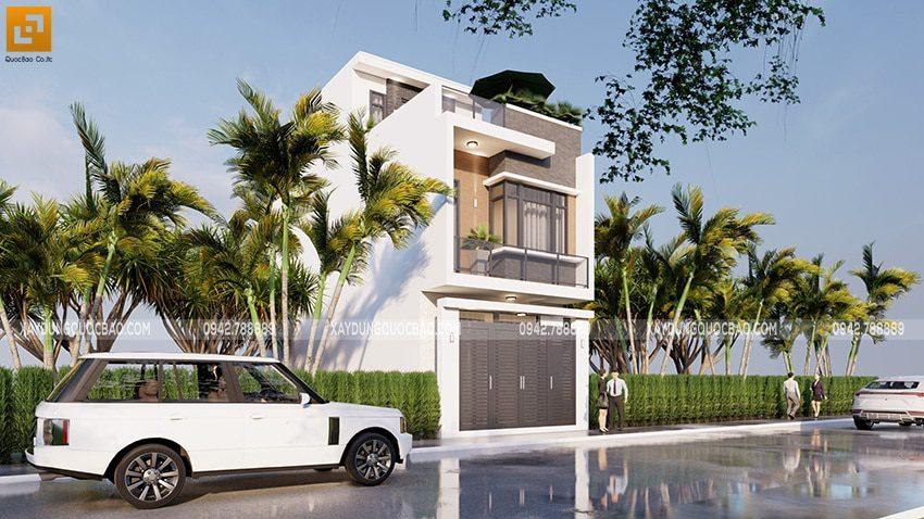 Những khối hình học tự do, phá cách là nét độc đáo trong phong cách thiết kế nhà phố hiện đại