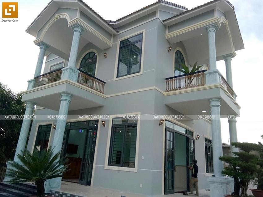 Bàn giao Biệt thự mái Thái 2 tầng tại Vĩnh Cửu - Ảnh 1