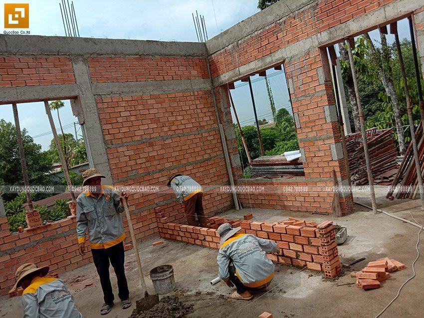 Công tác xây tường ngăn, vách ngăn - Ảnh 1