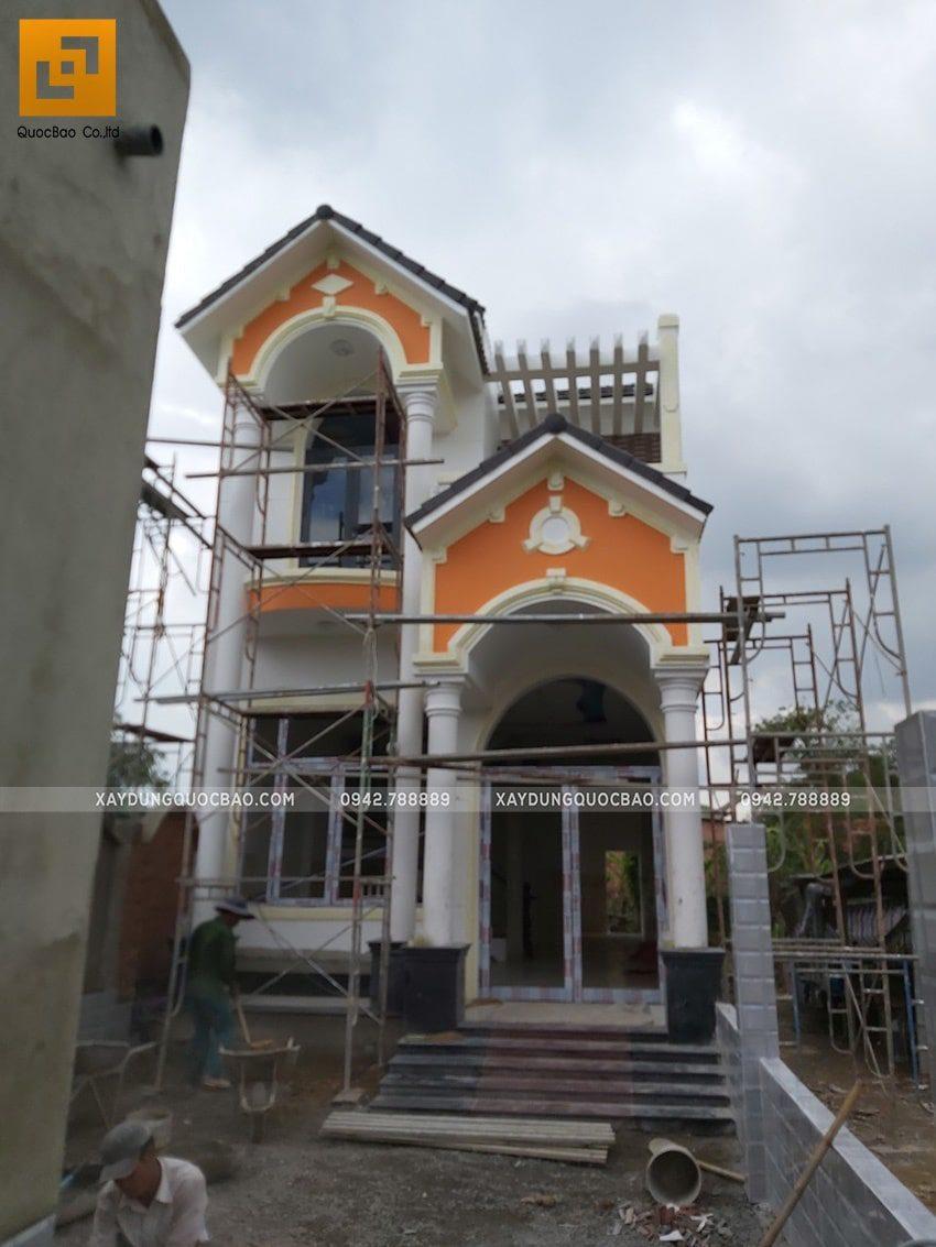 Thi công sơn nước trang trí bên ngoài nhà - Ảnh 4