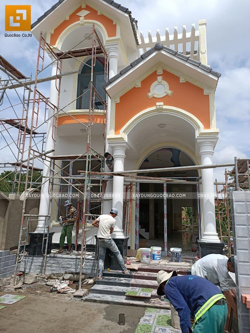 Thi công sơn nước trang trí bên ngoài nhà - Ảnh 5
