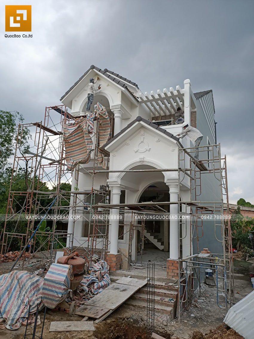Thi công sơn nước trang trí bên ngoài nhà - Ảnh 2