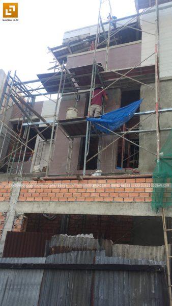 Thi công ốp gạch trang trí bên ngoài nhà - Ảnh 3