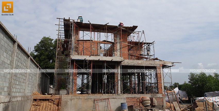 Thi công phần thô biệt thự 2 tầng tại Nhơn Trạch - Ảnh 2