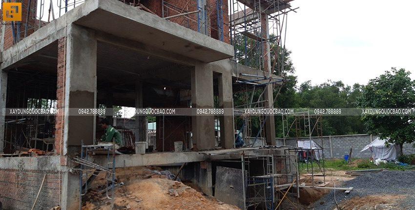 Thi công phần thô biệt thự 2 tầng tại Nhơn Trạch - Ảnh 8