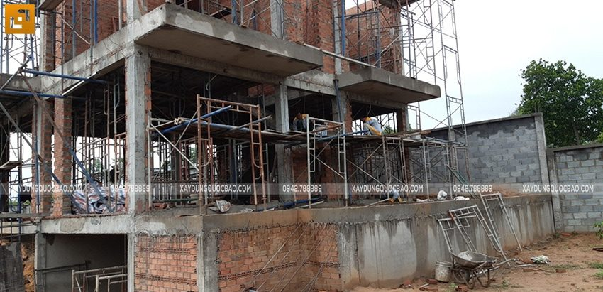 Thi công phần thô biệt thự 2 tầng tại Nhơn Trạch - Ảnh 7
