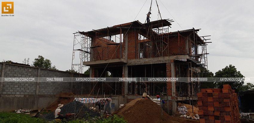 Thi công phần thô biệt thự 2 tầng tại Nhơn Trạch - Ảnh 5
