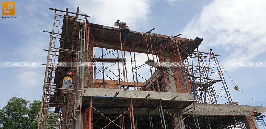 Thi công phần thô biệt thự 2 tầng tại Nhơn Trạch - Ảnh 3