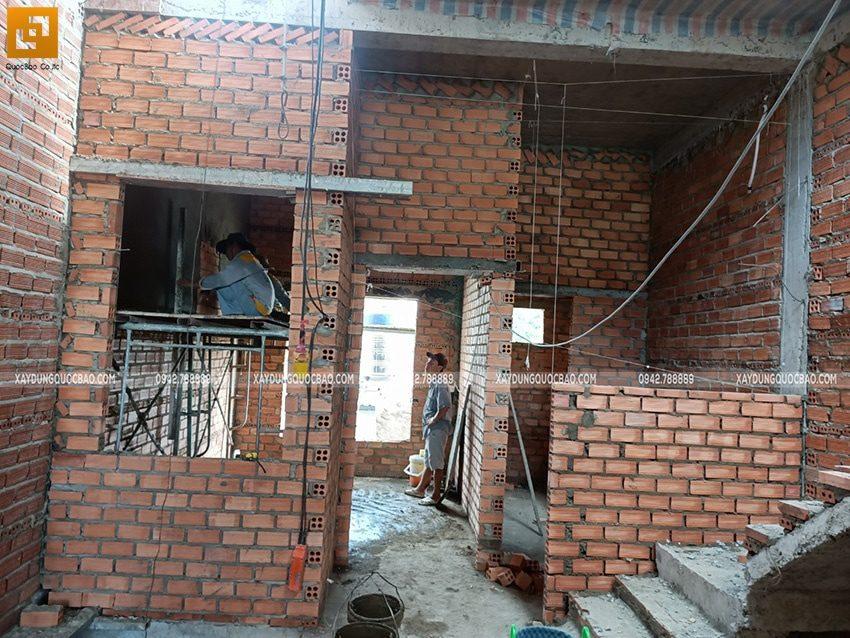 Thi công phần thô nhà 3 tầng tại Biên Hòa - Ảnh 22