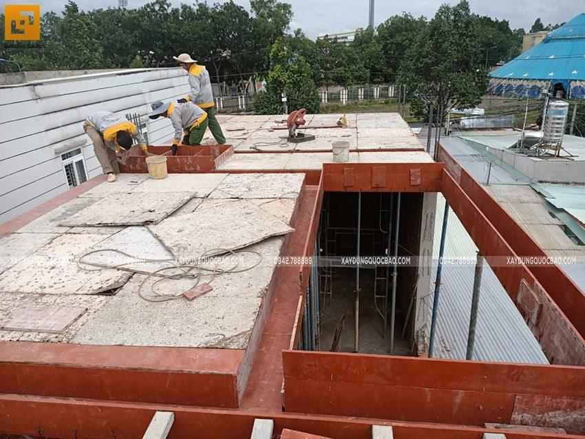 Thi công phần thô nhà 3 tầng tại Biên Hòa - Ảnh 12