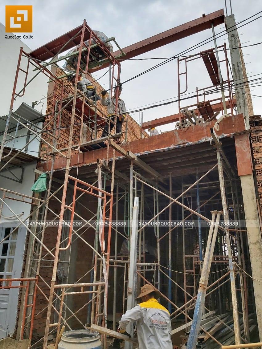 Thi công phần thô nhà 3 tầng tại Biên Hòa - Ảnh 10