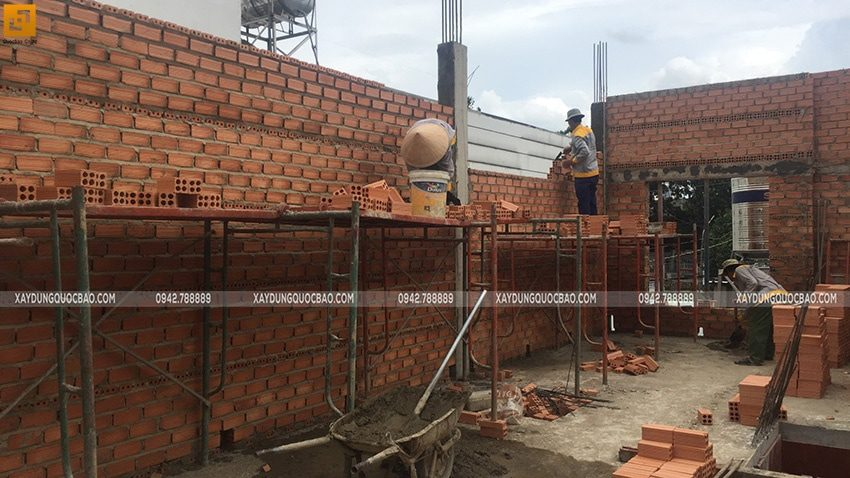 Thi công phần thô nhà 3 tầng tại Biên Hòa - Ảnh 9