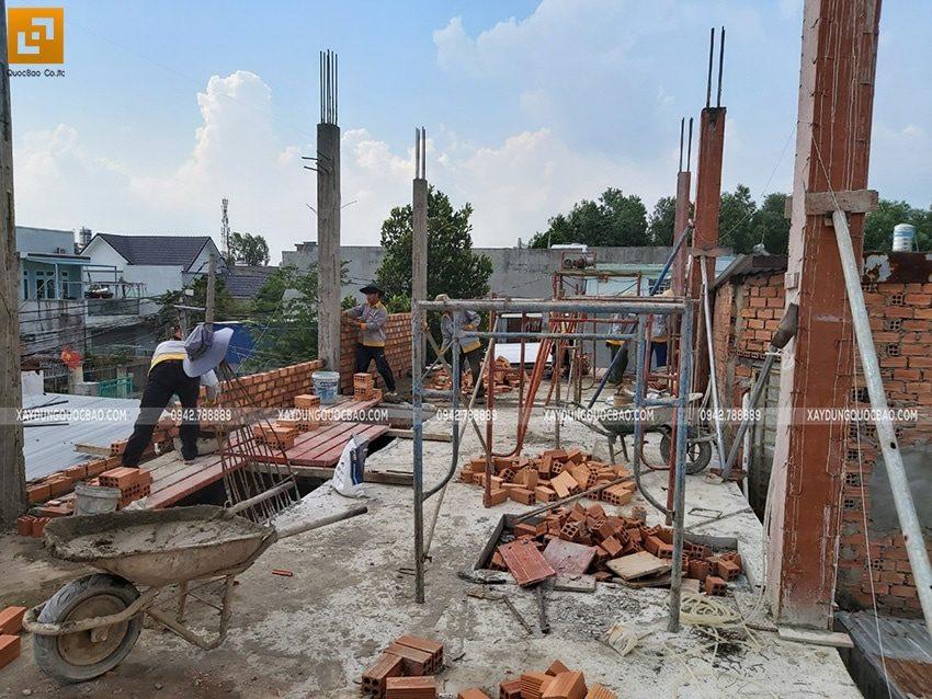 Thi công phần thô nhà 3 tầng tại Biên Hòa - Ảnh 4