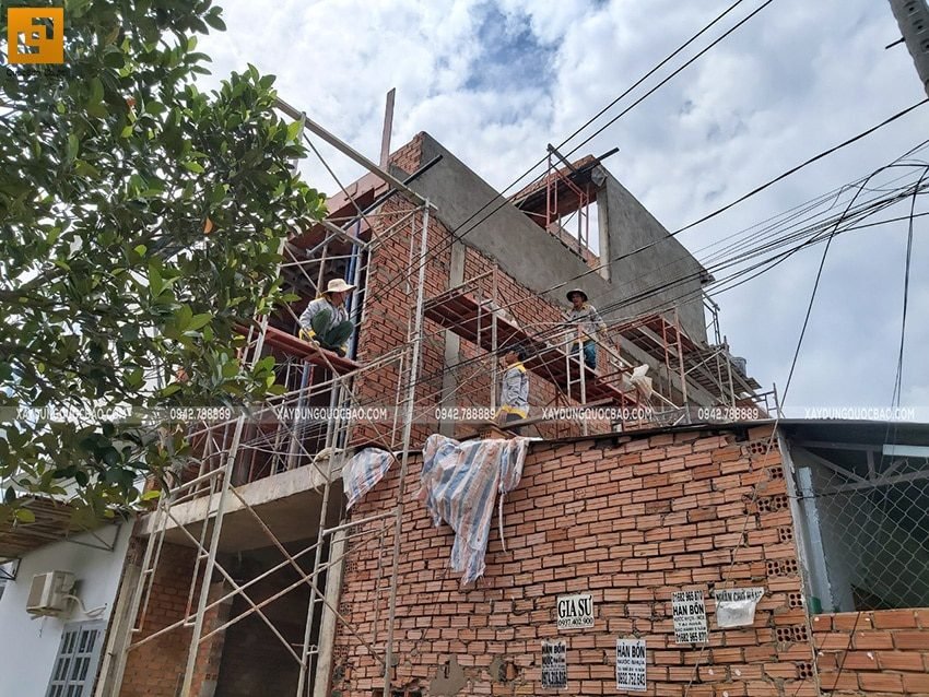 Thi công phần thô nhà 3 tầng tại Biên Hòa - Ảnh 19