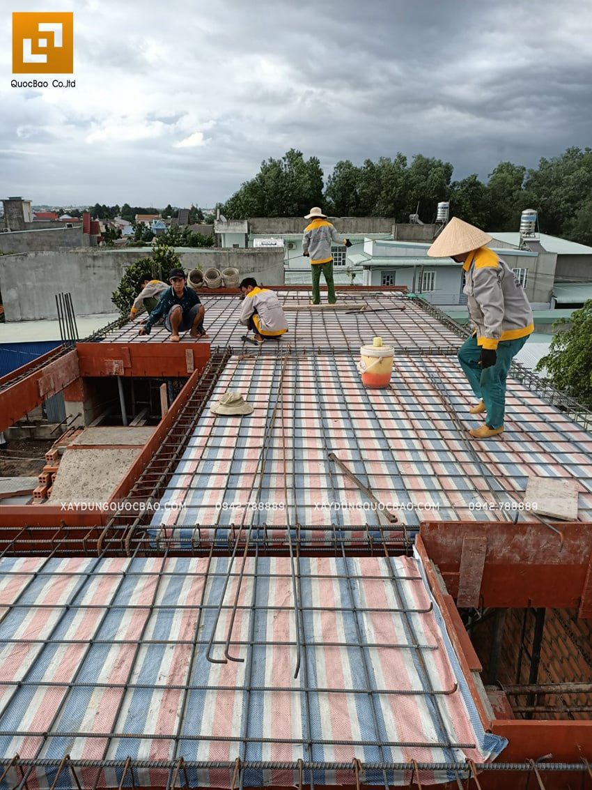 Thi công phần thô nhà 3 tầng tại Biên Hòa - Ảnh 16