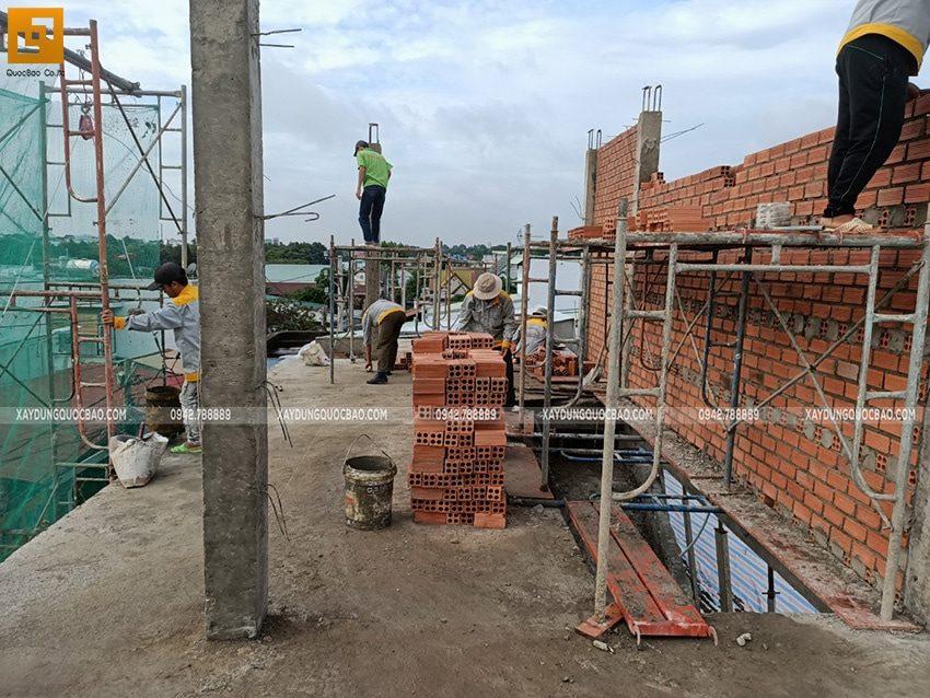 Thi công phần thô nhà 3 tầng tại Biên Hòa - Ảnh 14
