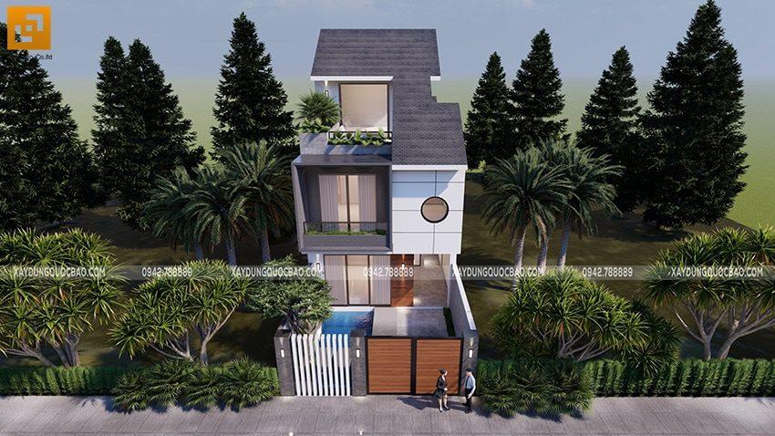 Thiết kế đã được KTS tính toán kỹ lưỡng để ngôi nhà luôn thông thoáng và đón được nhiều ánh nắng nhất