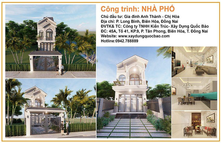 Khởi công xây dựng ngôi nhà 2 tầng mái thái tại P. Long Bình, Tp. Biên Hòa