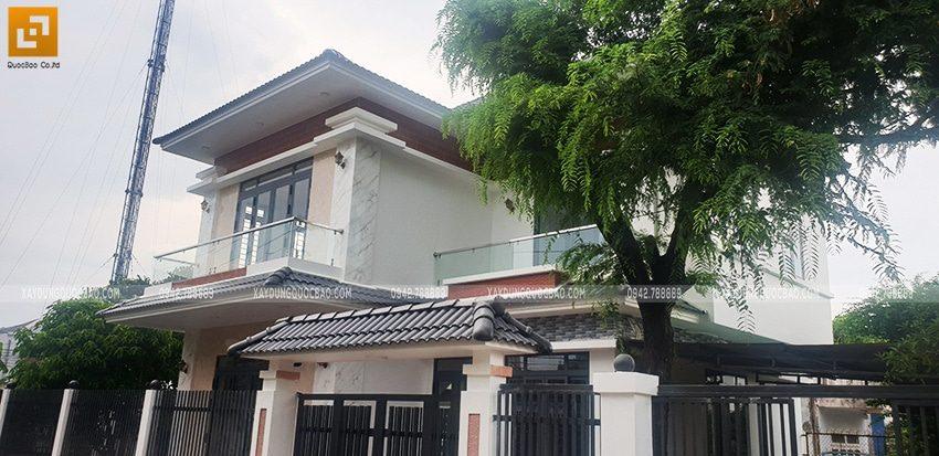 Hình ảnh ngôi biệt thự mái Nhật 2 tầng đã hoàn thiện - Ảnh 4
