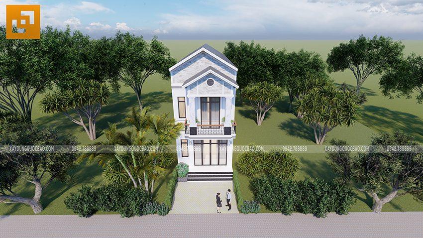Để tăng lượng ánh sáng tự nhiên cho căn nhà, Kiến trúc sư của ZCONS bố trí nhiều cửa kính cường lực dùng khung nhôm xingfa.