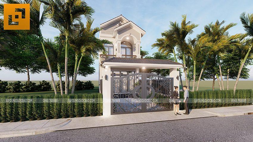 Nhà mái thái mặt tiền 5m rất phù hợp với nhu cầu sử dụng của nhiều hộ gia đình