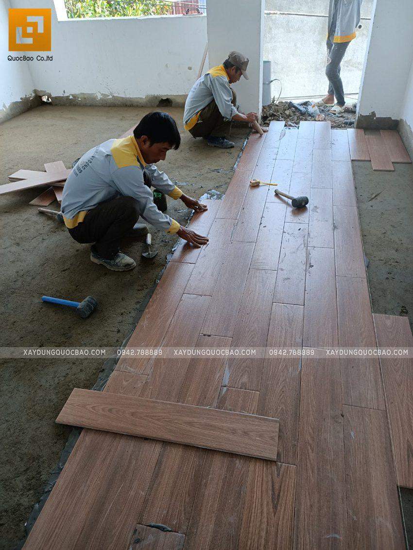 Thi công hoàn thiện nhà 3 tầng - Ảnh 5