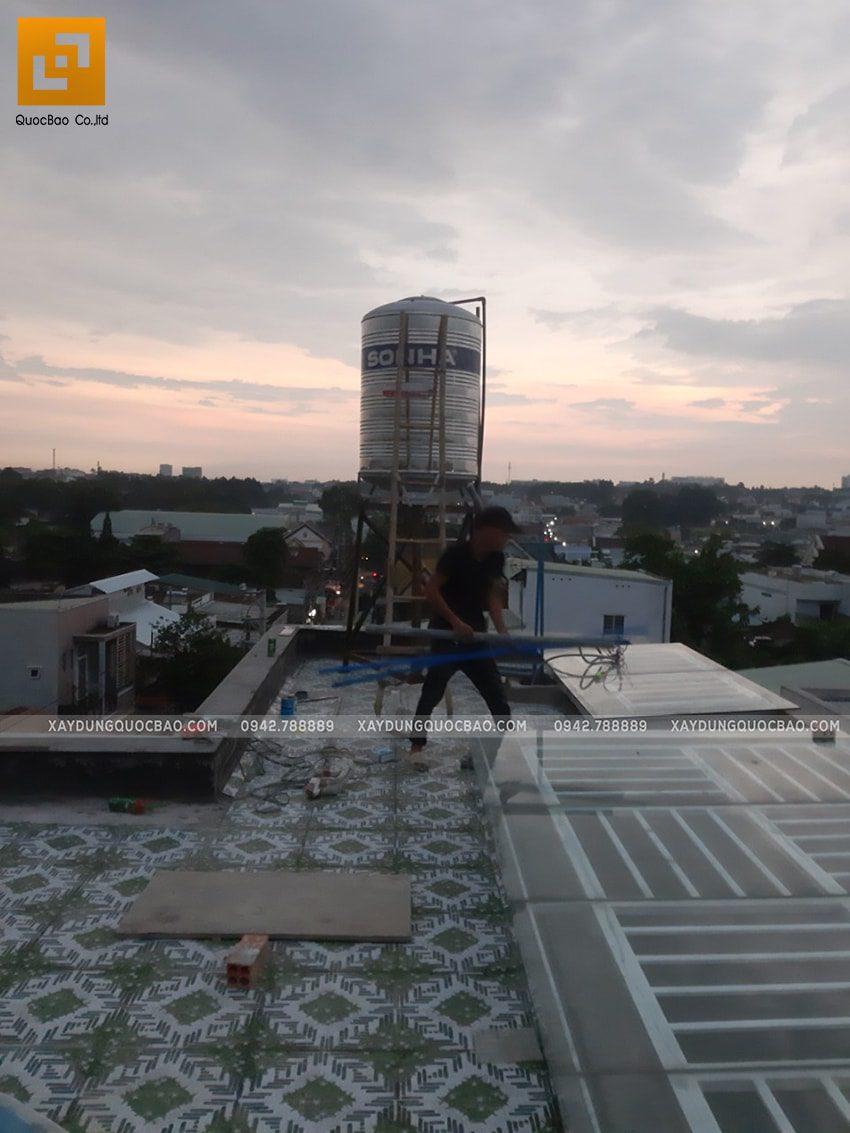 Thi công hoàn thiên nhà 3 tầng của chị Dung - Ảnh 5