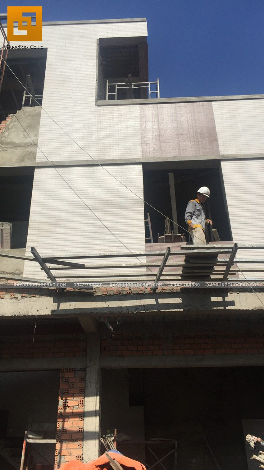 Thi công hoàn thiên nhà 3 tầng của chị Dung - Ảnh 4