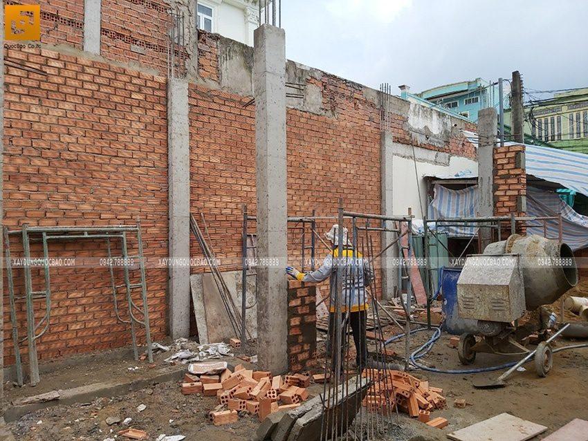 Thi công cột trụ tại tầng trệt - Ảnh 3
