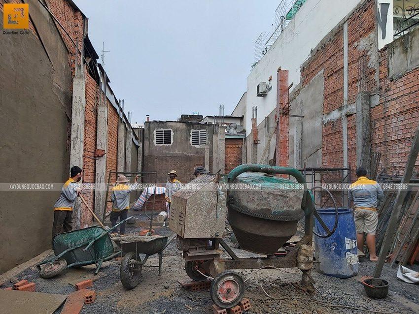Thi công cột trụ tại tầng trệt - Ảnh 2