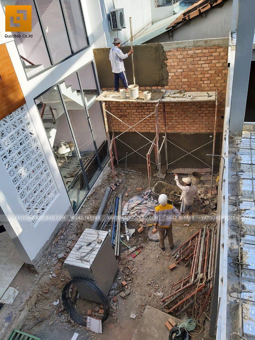 Thi công quán cafe 2 tầng kết cấu thép tại Biên Hòa - Ảnh 2