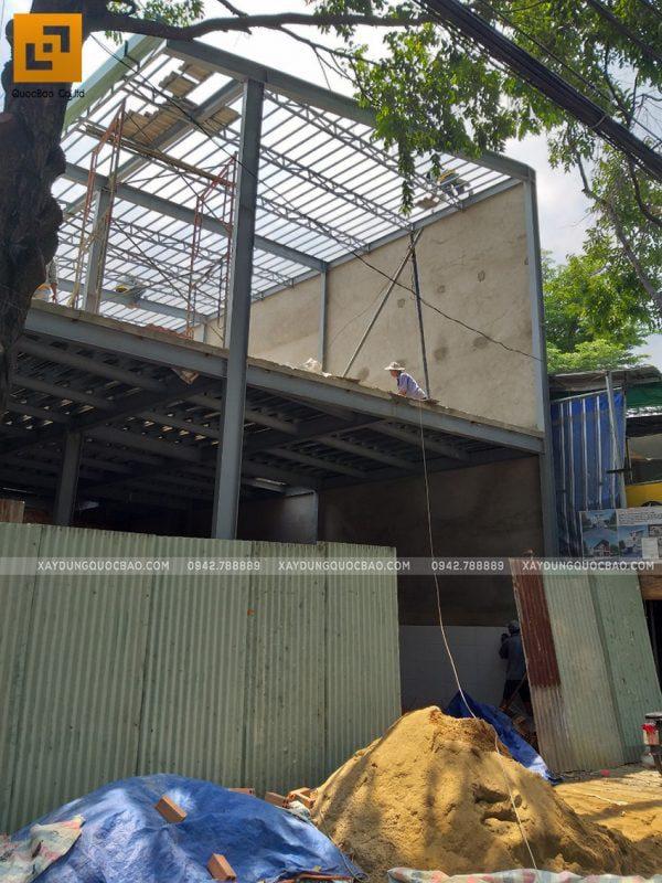 Thi công quán cafe 2 tầng kết cấu thép tại Biên Hòa - Ảnh 21