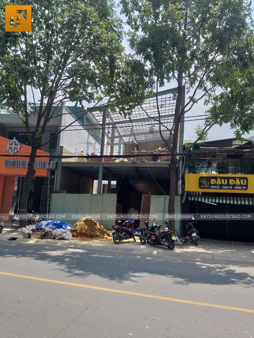 Thi công quán cafe 2 tầng kết cấu thép tại Biên Hòa - Ảnh 22