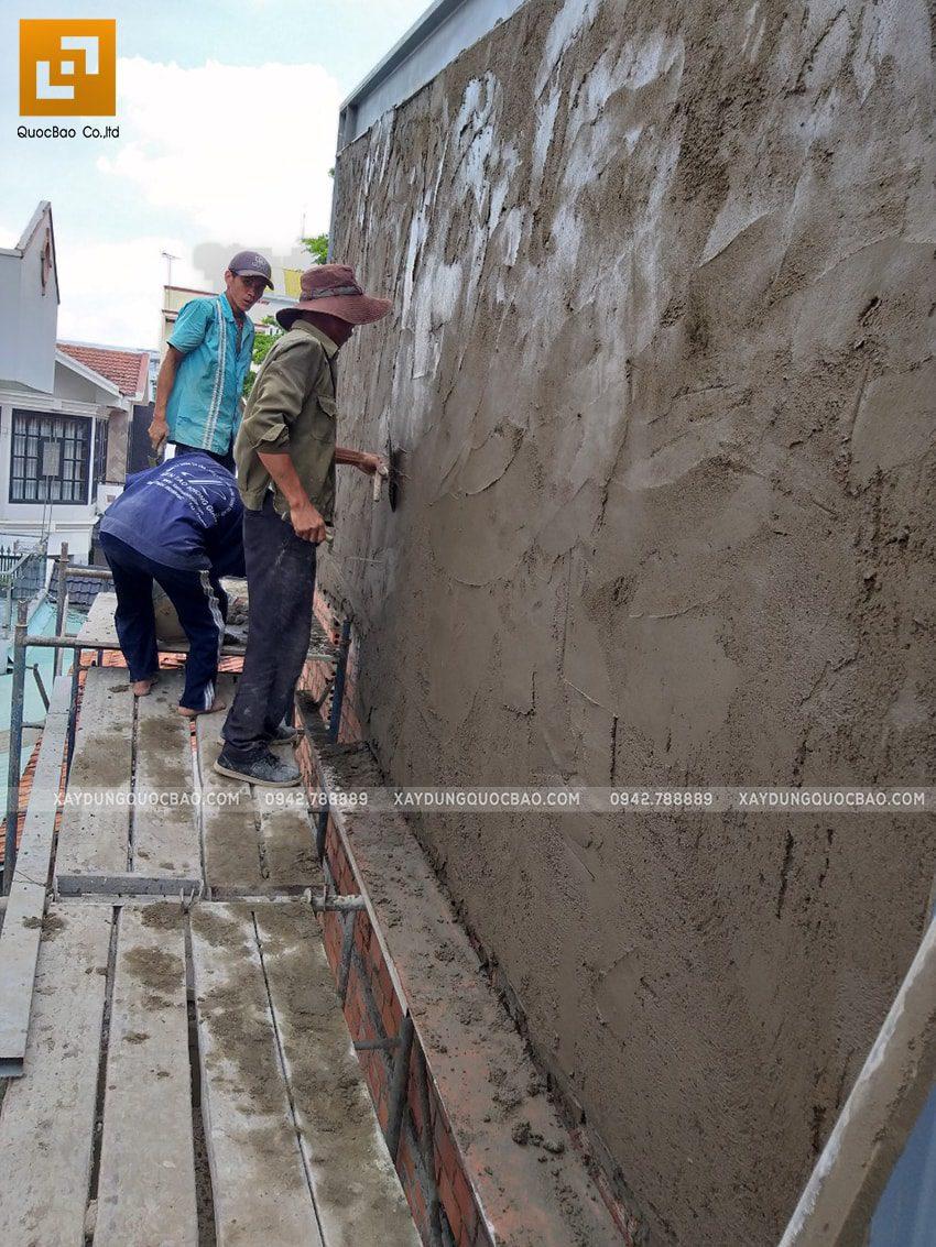 Thi công quán cafe 2 tầng kết cấu thép tại Biên Hòa - Ảnh 9