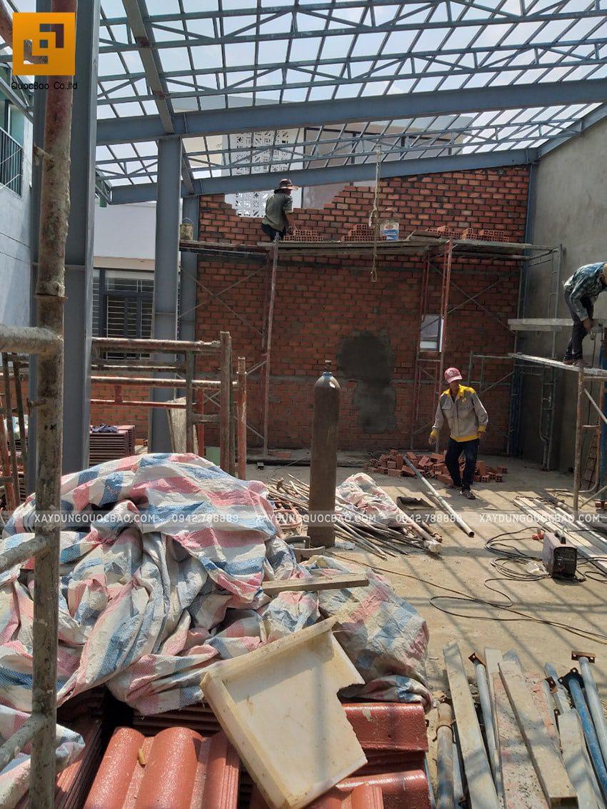Thi công quán cafe 2 tầng kết cấu thép tại Biên Hòa - Ảnh 18
