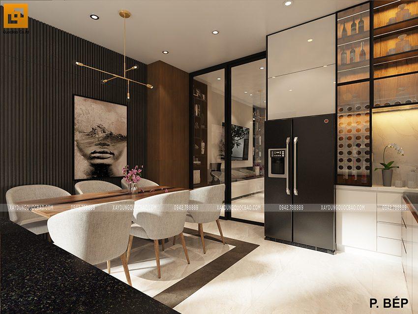 Phòng bếp và nhà ăn dùng chung cho cả gia đình