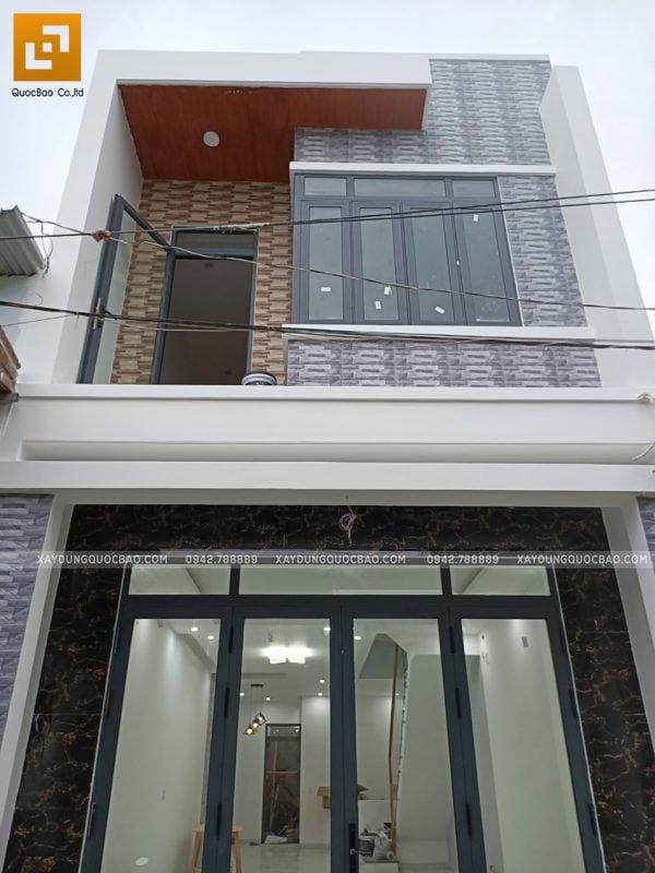 Hoàn thiện mặt tiền nhà 3 tầng anh Cường - Ảnh 4
